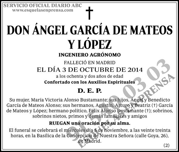 Ángel García de Mateos y López